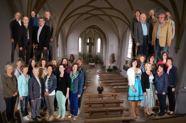 Mitlglieder des Chores mit Gastsängern für das 25 jährige Jubiläum im Jahr 2013